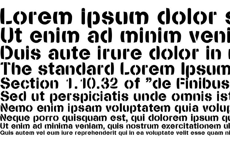 specimens Stencilia bold font, sample Stencilia bold font, an example of writing Stencilia bold font, review Stencilia bold font, preview Stencilia bold font, Stencilia bold font