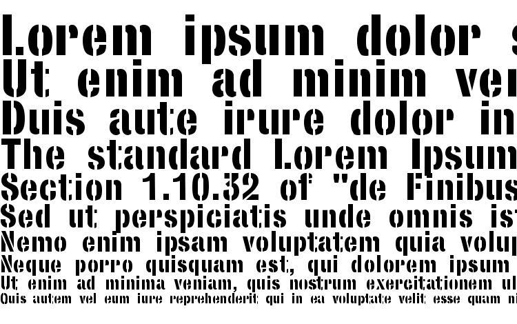 образцы шрифта StencilSans Bold, образец шрифта StencilSans Bold, пример написания шрифта StencilSans Bold, просмотр шрифта StencilSans Bold, предосмотр шрифта StencilSans Bold, шрифт StencilSans Bold