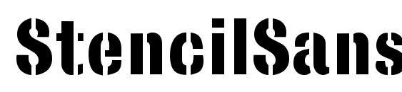 шрифт StencilSans Bold, бесплатный шрифт StencilSans Bold, предварительный просмотр шрифта StencilSans Bold