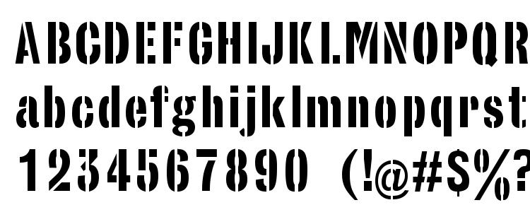 glyphs StencilSans Regular font, сharacters StencilSans Regular font, symbols StencilSans Regular font, character map StencilSans Regular font, preview StencilSans Regular font, abc StencilSans Regular font, StencilSans Regular font