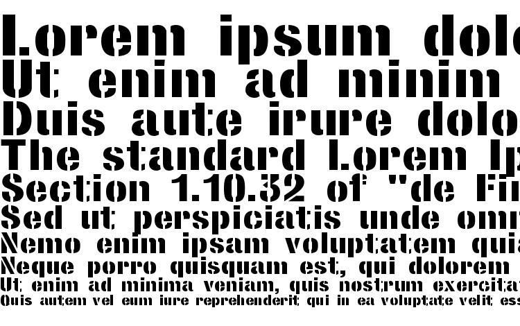 specimens StencilSansExtrabold Regular font, sample StencilSansExtrabold Regular font, an example of writing StencilSansExtrabold Regular font, review StencilSansExtrabold Regular font, preview StencilSansExtrabold Regular font, StencilSansExtrabold Regular font