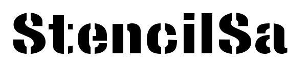 StencilSansExtrabold Regular Font