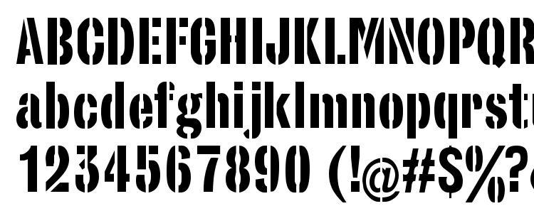 glyphs StencilSet font, сharacters StencilSet font, symbols StencilSet font, character map StencilSet font, preview StencilSet font, abc StencilSet font, StencilSet font