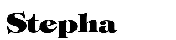 Шрифт Stephanie Heavy