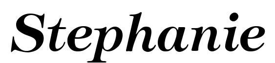 Шрифт Stephanie