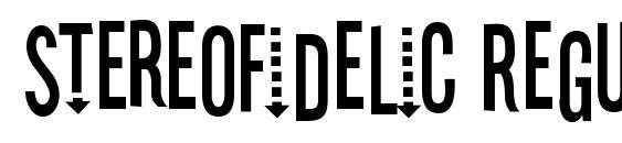 Шрифт Stereofidelic Regular