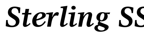 Шрифт Sterling SSi Bold Italic