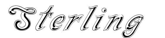 Шрифт Sterling