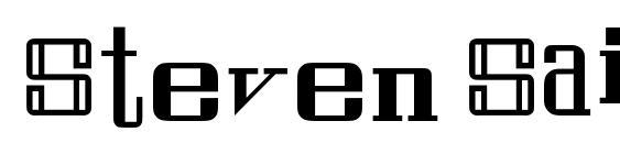 Шрифт Steven Saint