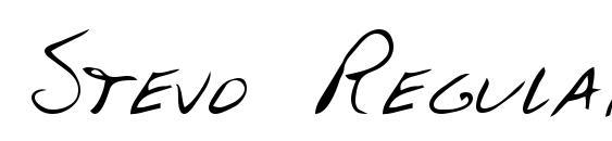 Шрифт Stevo Regular
