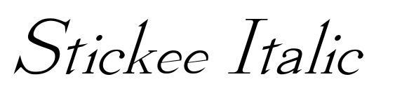 Шрифт Stickee Italic