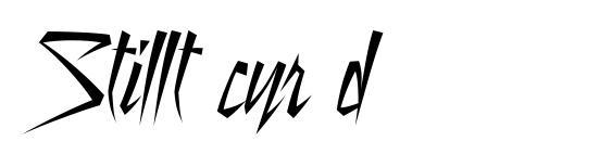 Stillt cyr d Font