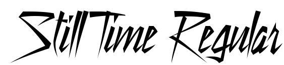 StillTime Regular font, free StillTime Regular font, preview StillTime Regular font
