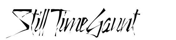 StillTimeGaunt Font