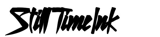 StillTimeInk Font