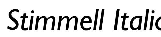 Stimmell Italic Font