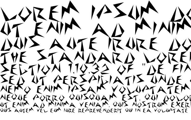 specimens Stinger Regular font, sample Stinger Regular font, an example of writing Stinger Regular font, review Stinger Regular font, preview Stinger Regular font, Stinger Regular font