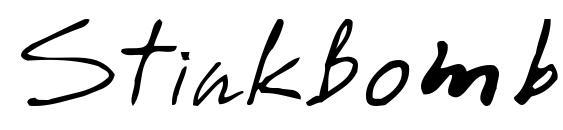 StinkBomb font, free StinkBomb font, preview StinkBomb font