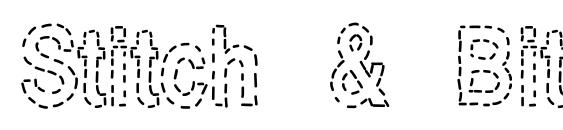 Stitch & Bitch Font