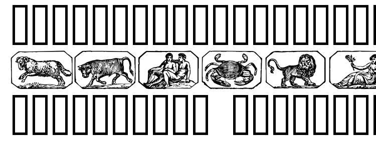 глифы шрифта Stjernetegn, символы шрифта Stjernetegn, символьная карта шрифта Stjernetegn, предварительный просмотр шрифта Stjernetegn, алфавит шрифта Stjernetegn, шрифт Stjernetegn