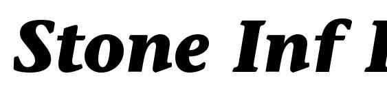 Шрифт Stone Inf ITC Bold Italic