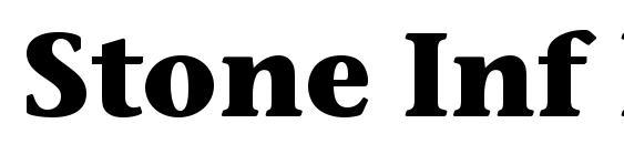 Stone Inf ITC Bold font, free Stone Inf ITC Bold font, preview Stone Inf ITC Bold font
