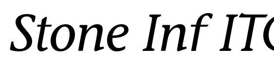 Шрифт Stone Inf ITC Medium Italic