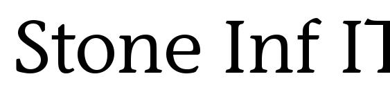 Шрифт Stone Inf ITC Medium