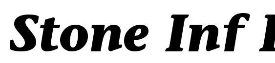 Stone Inf ITC TT BoldItalic Font