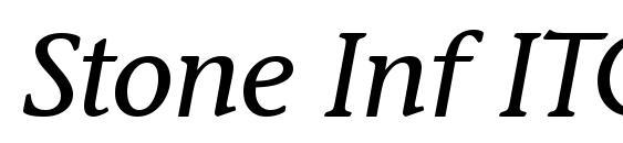 Stone Inf ITC TT MediumItalic font, free Stone Inf ITC TT MediumItalic font, preview Stone Inf ITC TT MediumItalic font