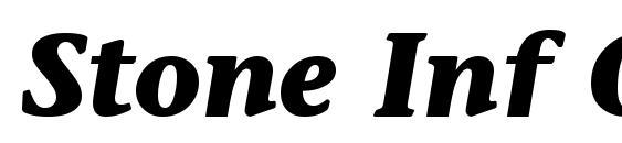 Stone Inf OS ITC TT BoldItalic Font