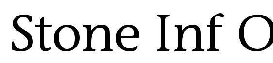 Шрифт Stone Inf OS ITC TT Medium