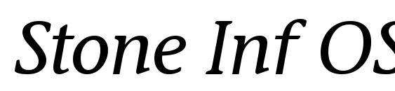 шрифт Stone Inf OS ITC TT MediumIta, бесплатный шрифт Stone Inf OS ITC TT MediumIta, предварительный просмотр шрифта Stone Inf OS ITC TT MediumIta