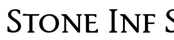 Stone Inf SC ITC TT Medium font, free Stone Inf SC ITC TT Medium font, preview Stone Inf SC ITC TT Medium font