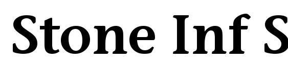 Шрифт Stone Inf Sem ITC TT Semi