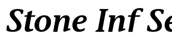Шрифт Stone Inf Sem ITC TT SemiItalic