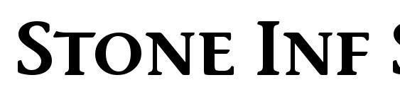 Stone Inf Sem SC ITC TT Semi Font