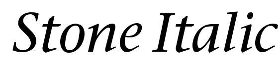 Stone Italic Font