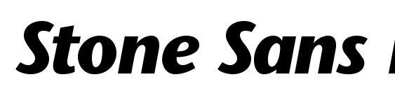 Stone Sans BoldItalic Font