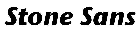 шрифт Stone Sans ITC Bold Italic, бесплатный шрифт Stone Sans ITC Bold Italic, предварительный просмотр шрифта Stone Sans ITC Bold Italic