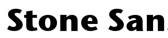 Шрифт Stone Sans ITC TT Bold