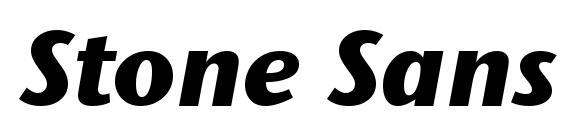 Шрифт Stone Sans ITC TT BoldItalic