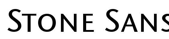 Шрифт Stone Sans SC ITC TT Medium