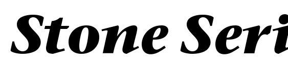 Шрифт Stone Serif ITC Bold Italic