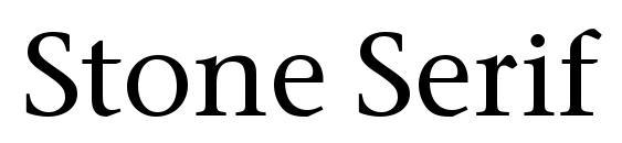 Шрифт Stone Serif ITC Medium