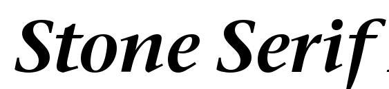 Stone Serif ITC Semi Italic Font