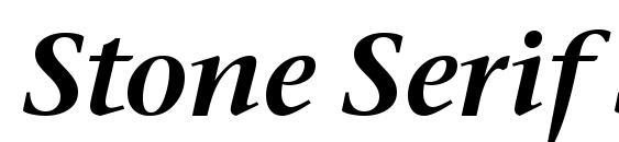 шрифт Stone Serif Sem ITC TT SemiIta, бесплатный шрифт Stone Serif Sem ITC TT SemiIta, предварительный просмотр шрифта Stone Serif Sem ITC TT SemiIta