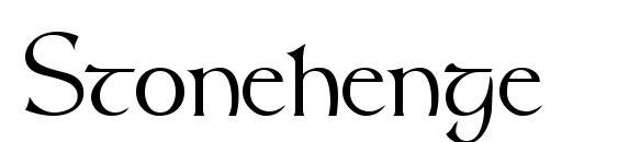 Шрифт Stonehenge