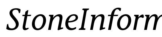 StoneInformalStd MediumItal Font