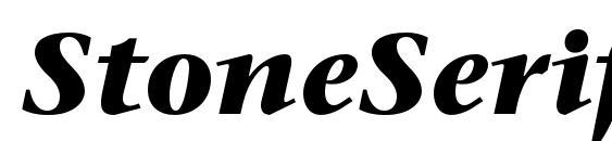 StoneSerifStd BoldItalic Font
